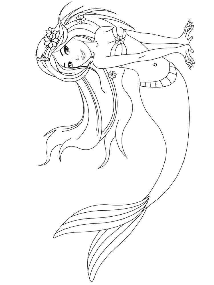 Красивые раскраски русалок