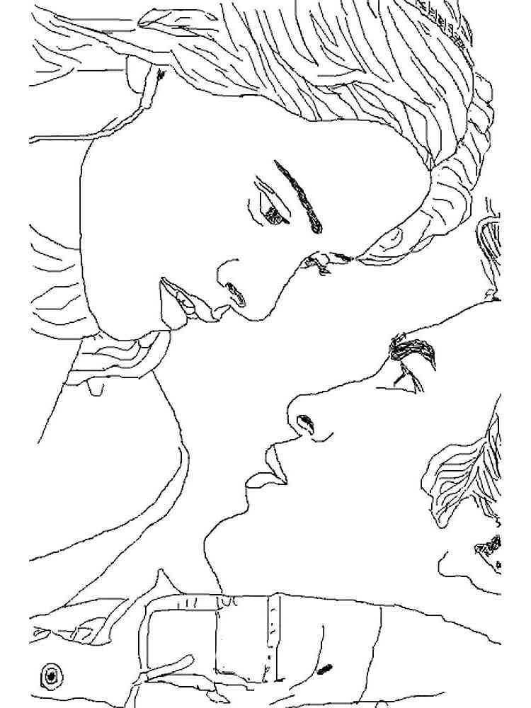 Раскраска Сумерки - распечатать в формате А4