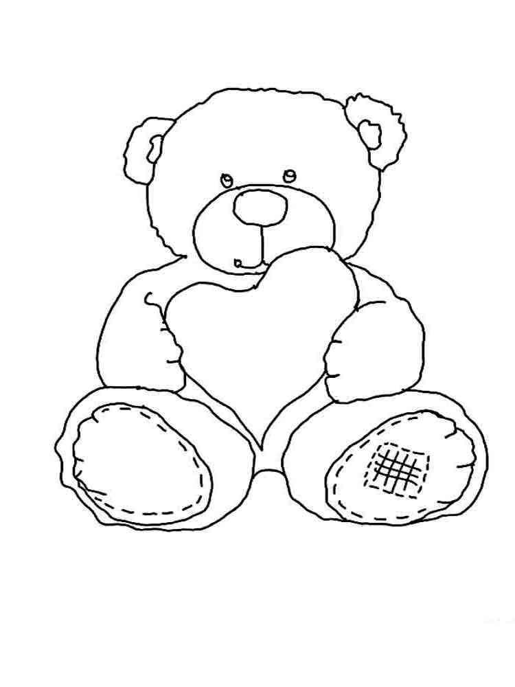 Раскраска плюшевого медведя