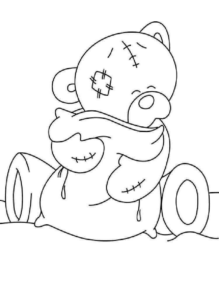 Раскраска для девочек мишка тедди - 10