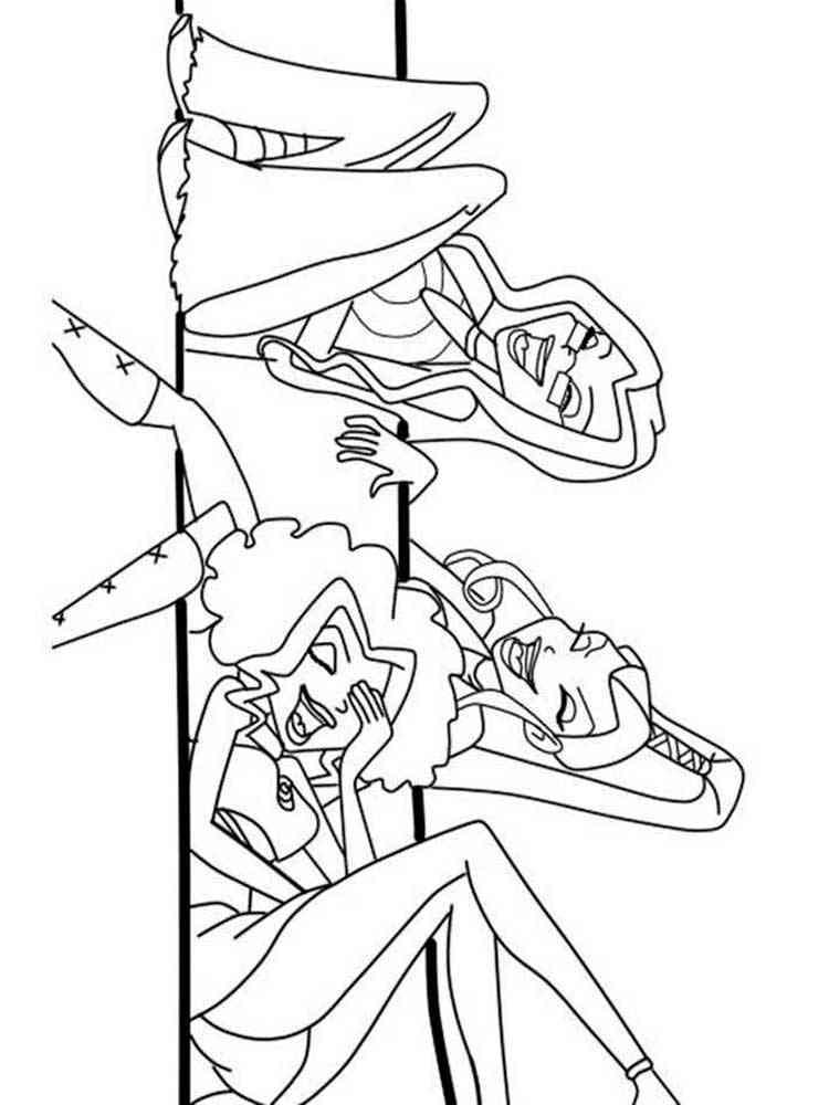 Раскраска Трикс - распечатать в формате А4