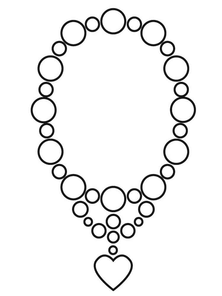 Бусы рисунок карандашом черно белый