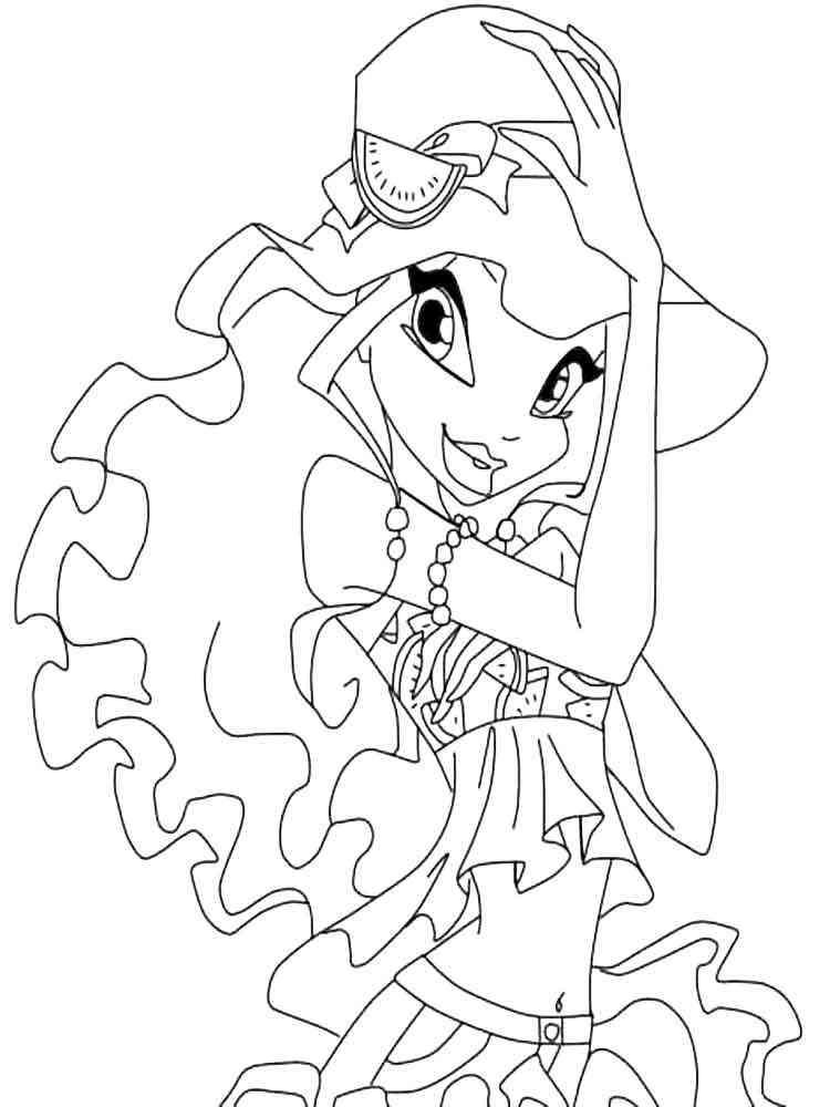 раскраски лейла Winx скачать и распечатать раскраски лейла Winx