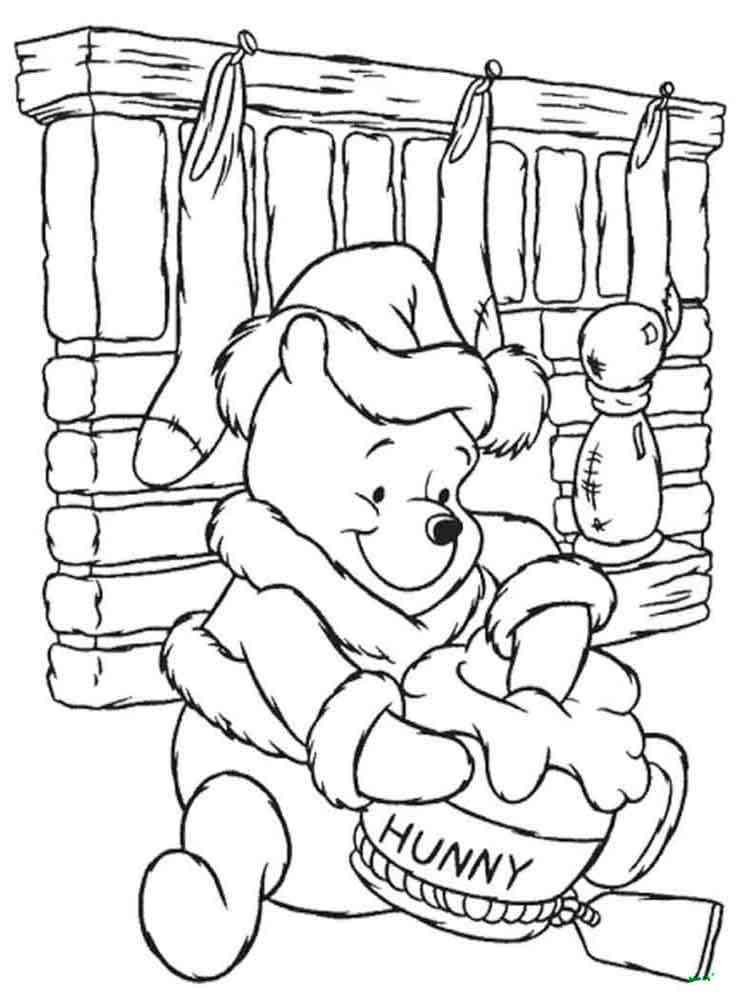 раскраски из мультфильма винни пух скачать и распечатать