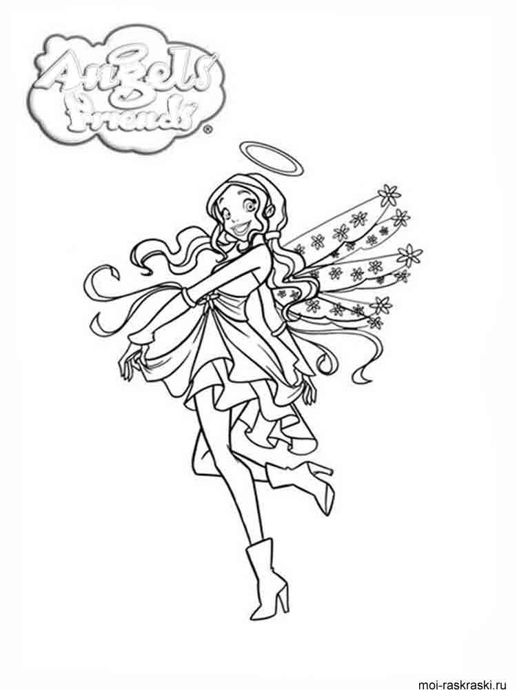 Раскраски из мультфильмов-ангелы