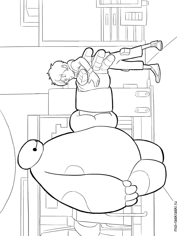 раскраски город героев Big Hero 6 скачать и распечатать