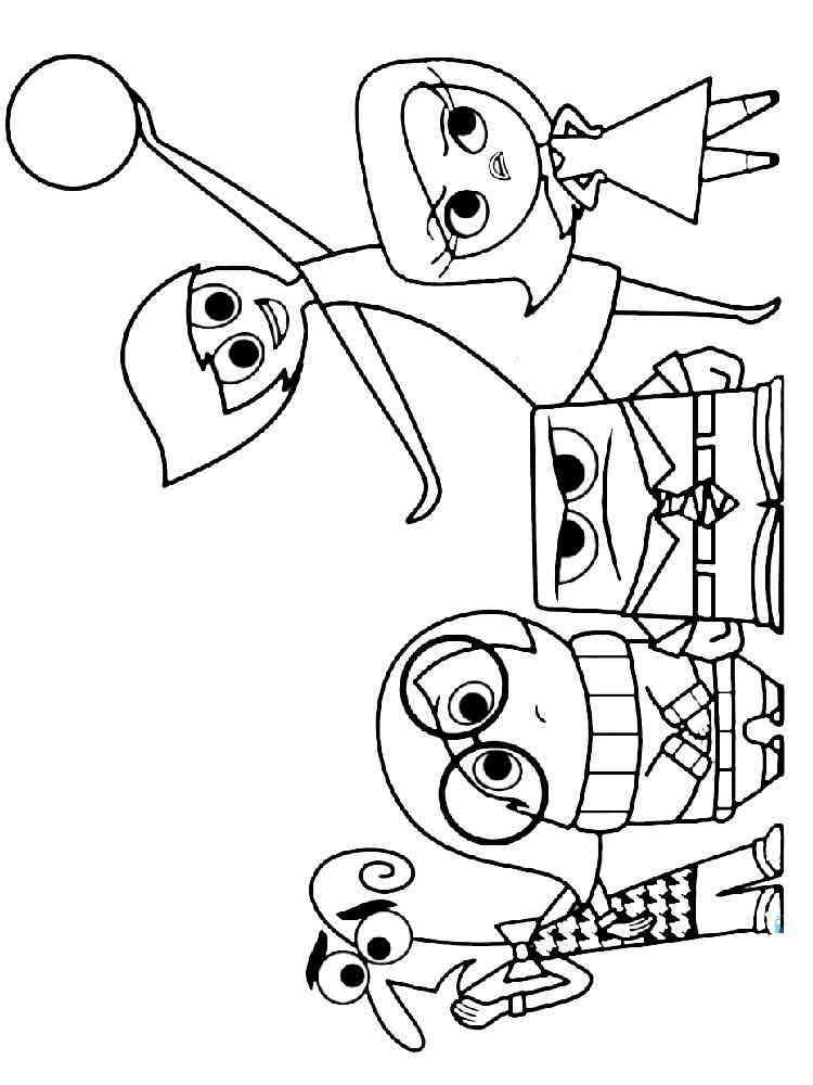 Герои головоломки раскраска