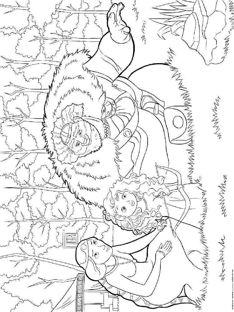 Раскраска Храбрая сердцем - распечатать в формате А4