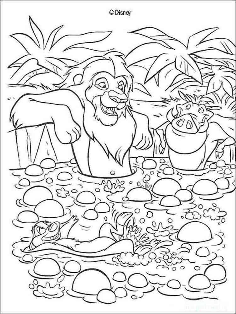 Раскраски Король Лев (Lion King) - распечатать в формате А4
