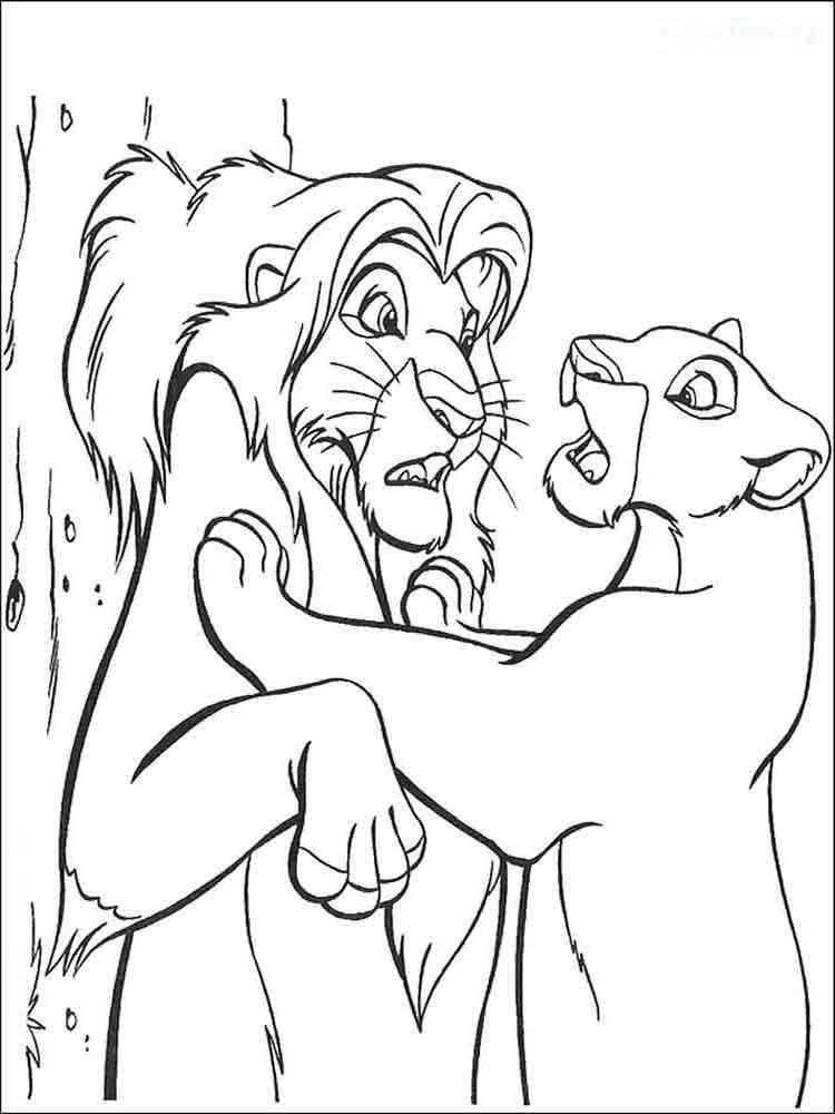 Раскраски короля львов