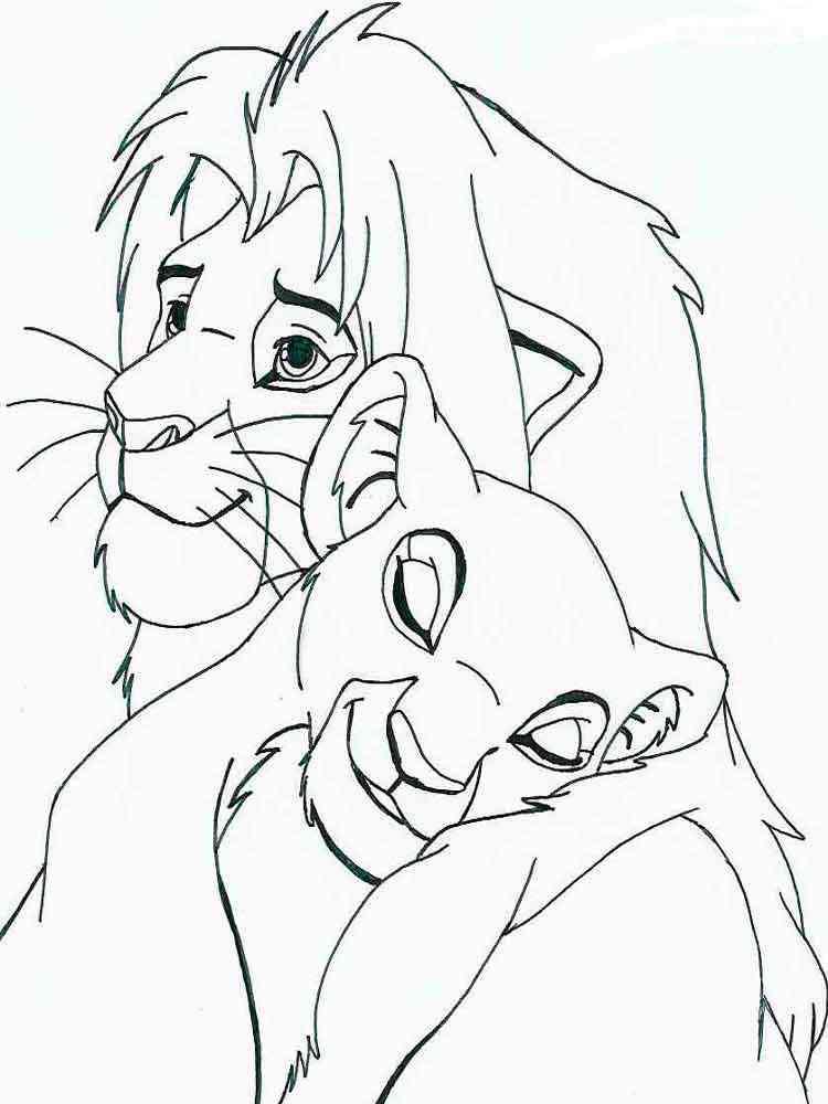 Картинки из мультика король лев для срисовки