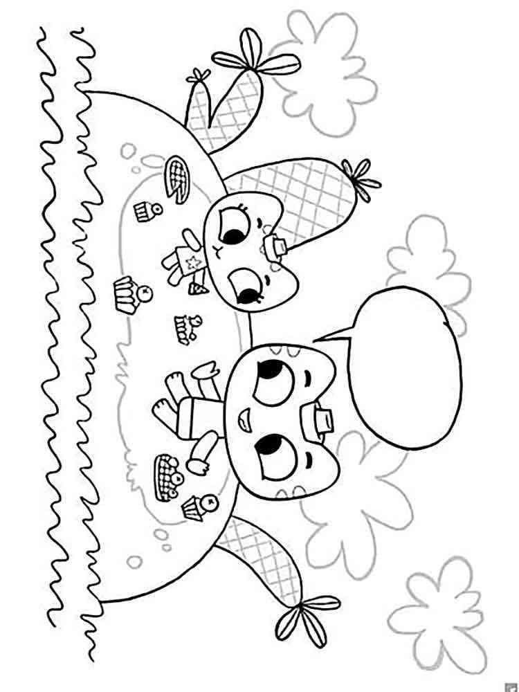 Раскраска Котики вперед - распечатать в формате А4
