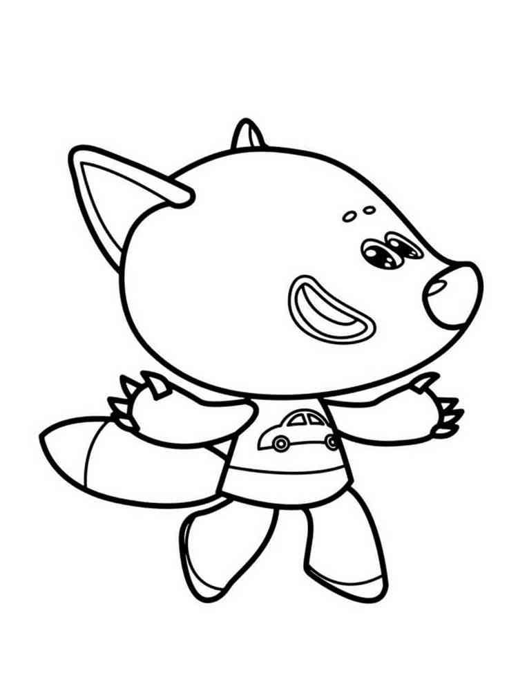 Раскраски Лисичка из Мимимишек - распечатать в формате А4