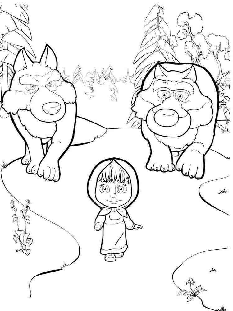 раскраски из мультфильма маша и медведь скачать и