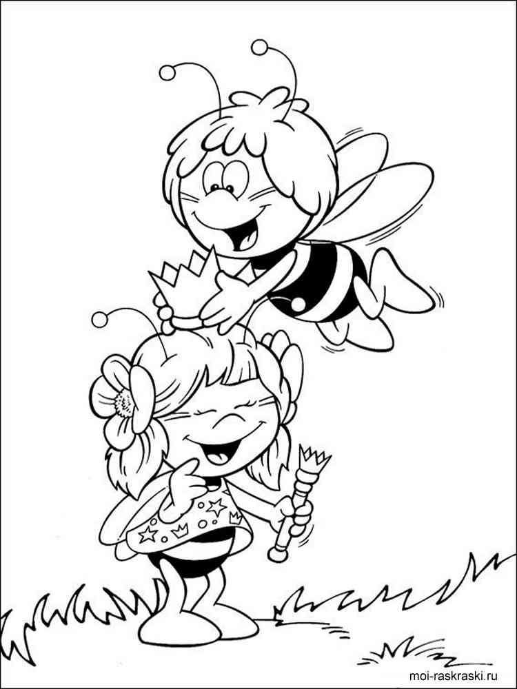 Раскраски пчёлок
