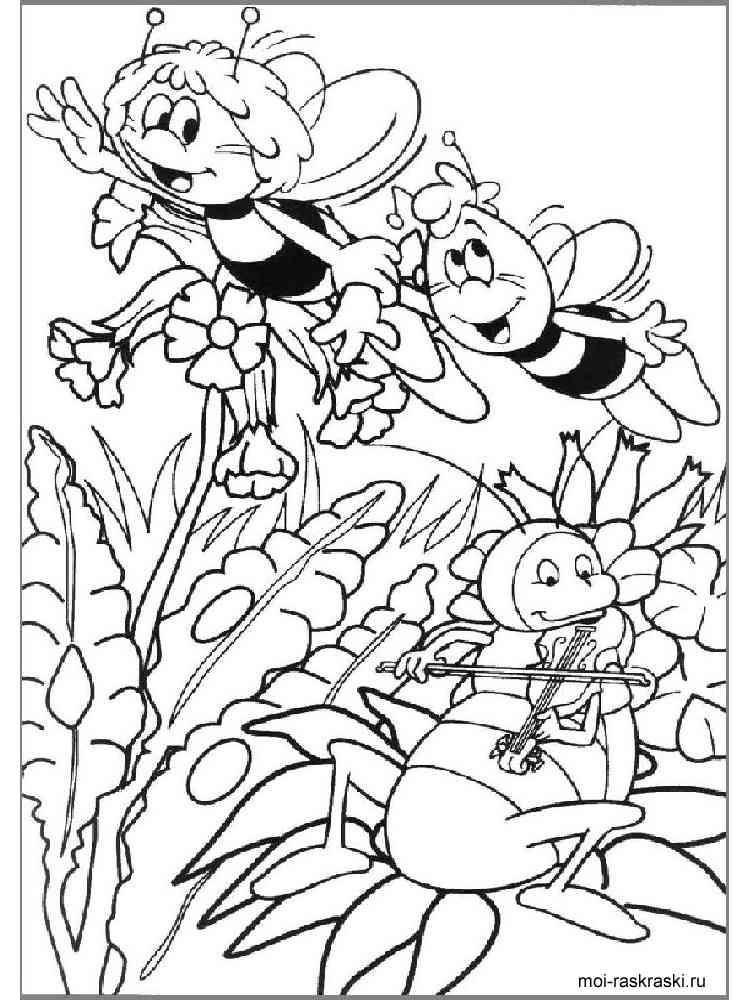 Пчелка майя картинки для раскрашивания