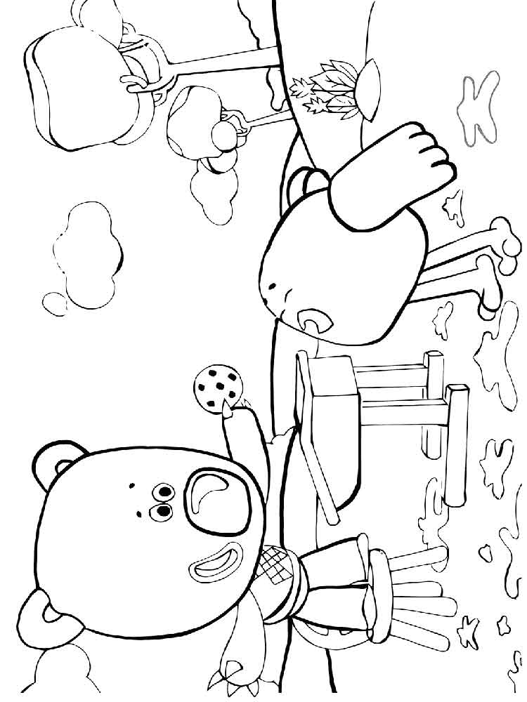 Раскраски Мимимишки - распечатать в формате А4