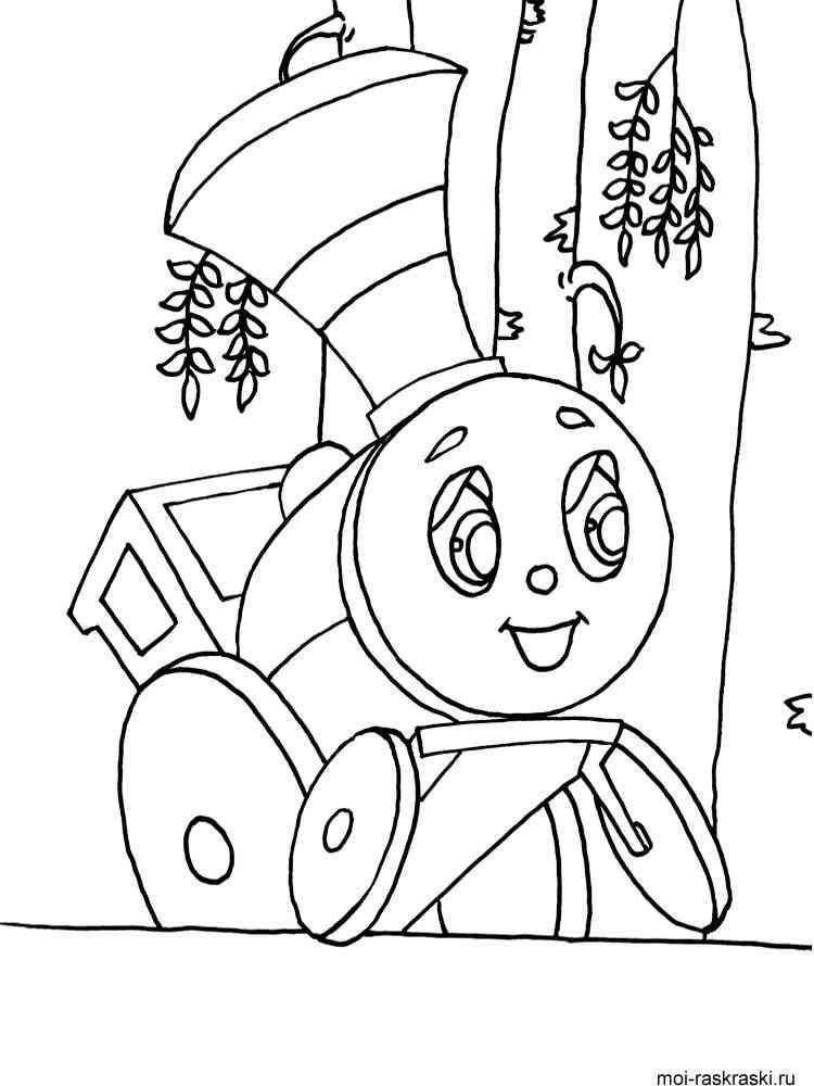 Раскраски для мальчиков про паровозики - 7