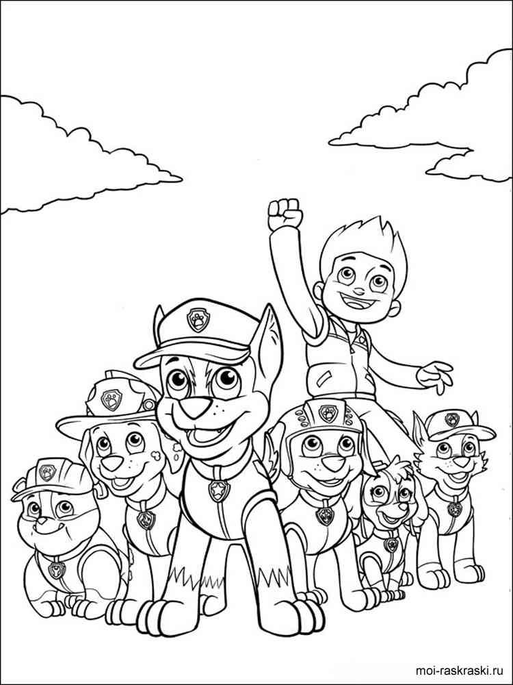 Раскраска патруль - 6