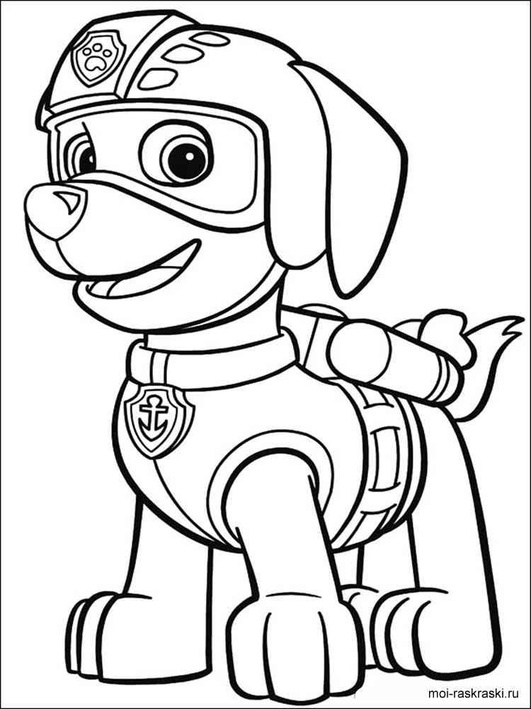Щенячий патруль раскраска с детьми