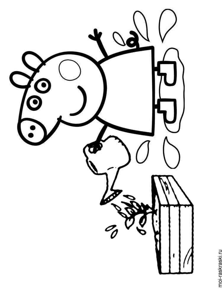 раскраски из мультфильма свинка пеппа скачать и распечатать