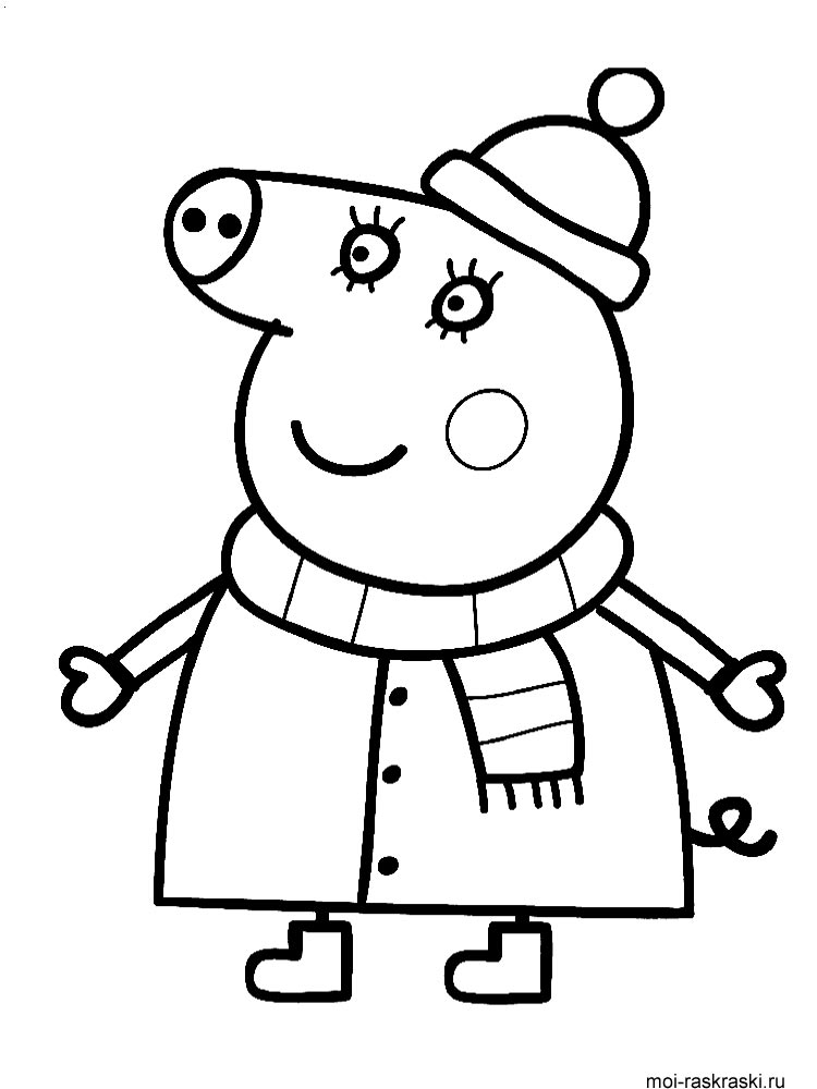 peppa pig drawing templates -