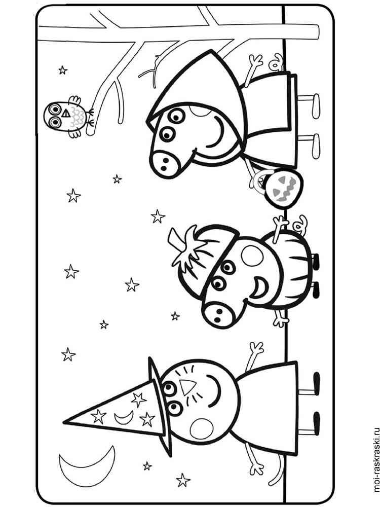 Раскраски для девочек свинка пеппа онлайн - 1