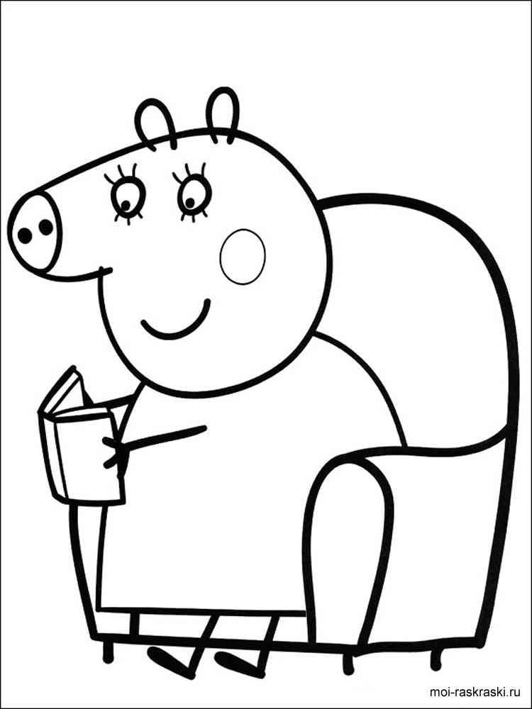 Раскраски для девочек свинка пеппа играть - 1