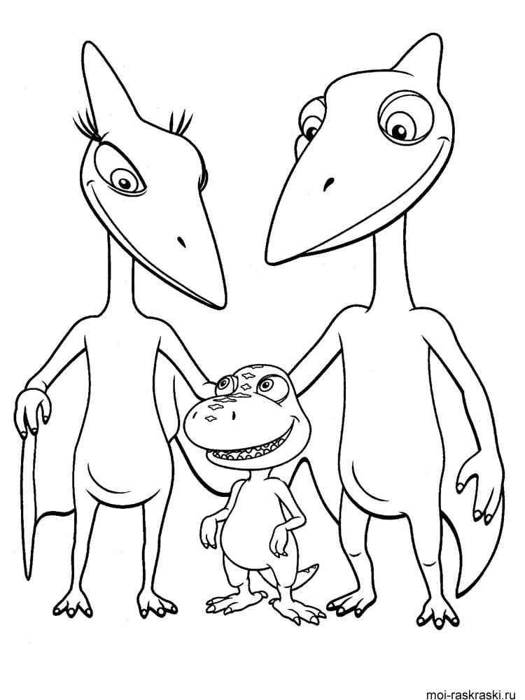 Раскраски динозавров из поезда динозавров