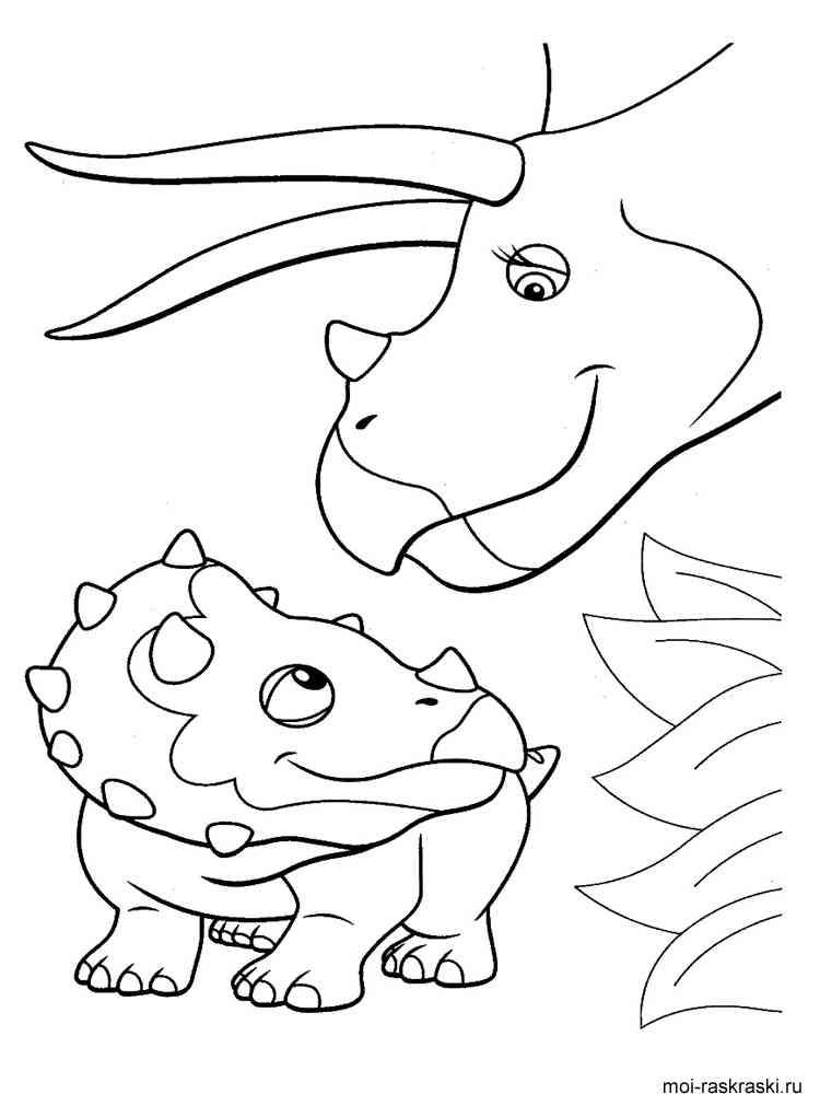 Раскраска из поезда динозавров