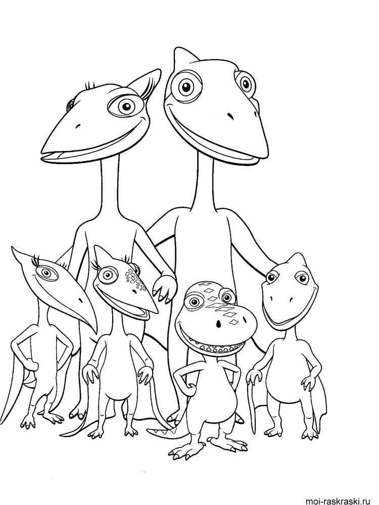 Математическая Игра поезд динозавров раскраски