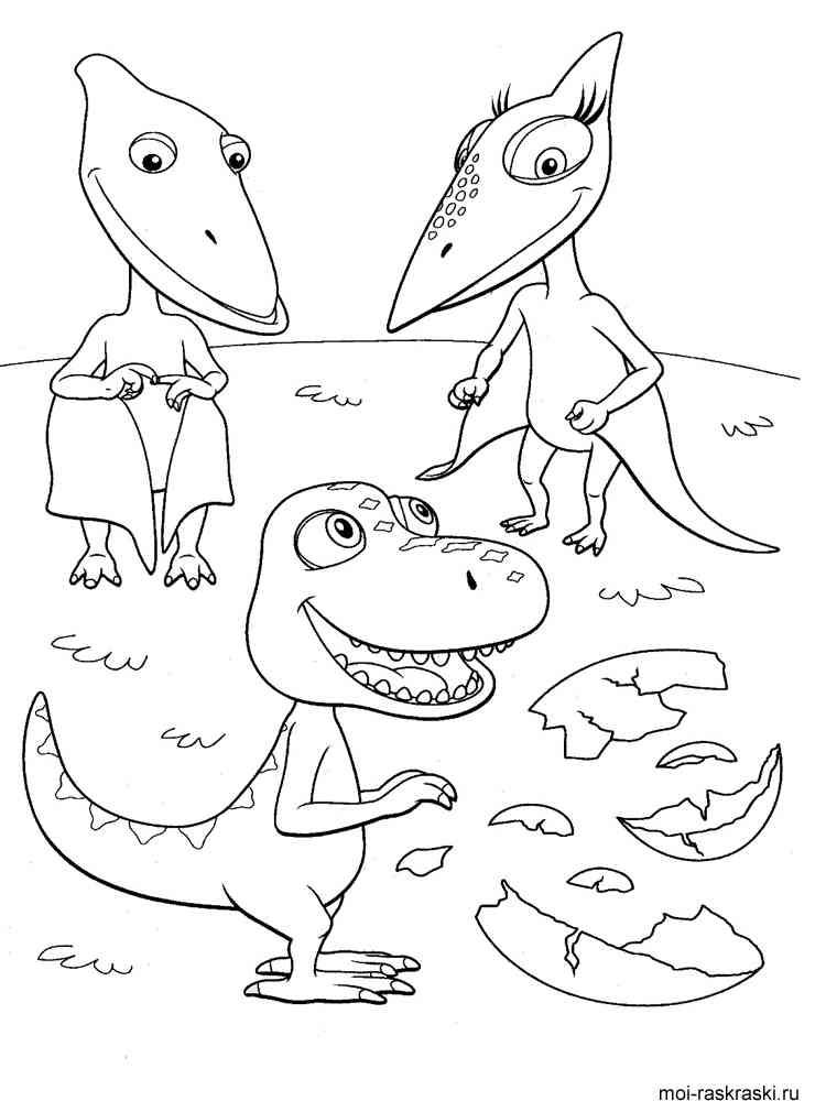 Раскраска динозавров из мультиков