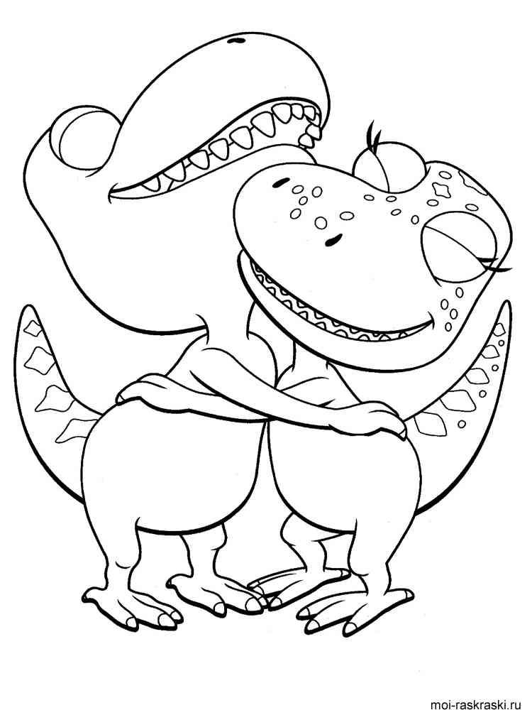 Раскраски онлайн бесплатно поезд динозавров