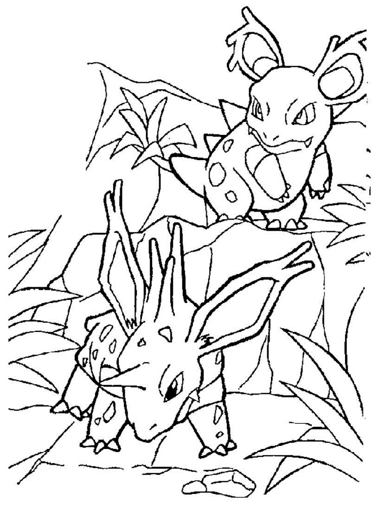 Раскраски Покемоны (Pokenon) - распечатать в формате А4