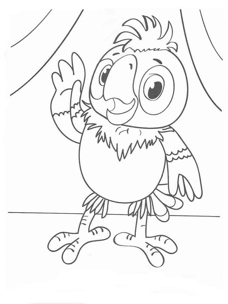 раскраска попугай кеша скачать и распечатать раскраски