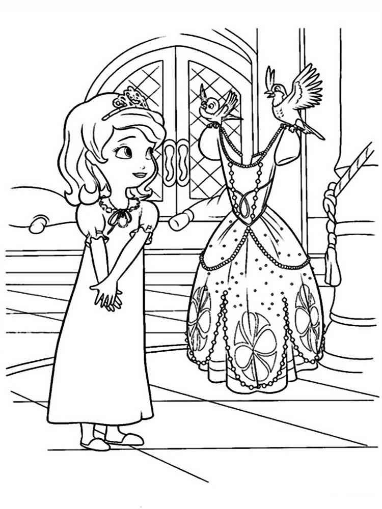Раскраска Принцесса София. Скачать и распечатать раскраски ...