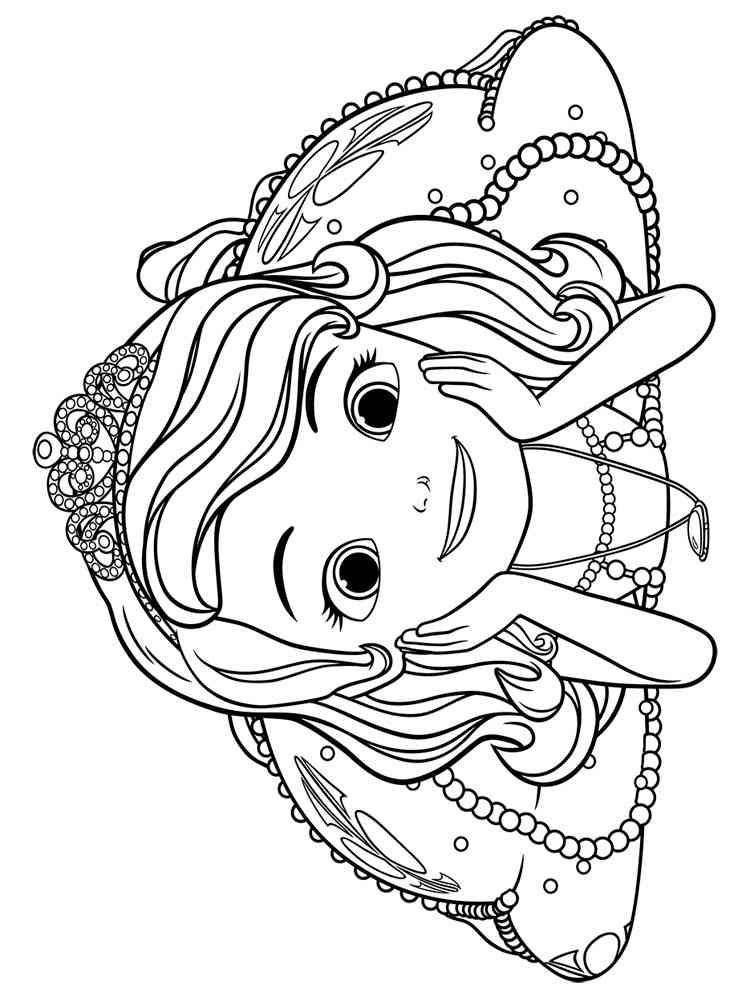 раскраска принцесса софия скачать и распечатать раскраски