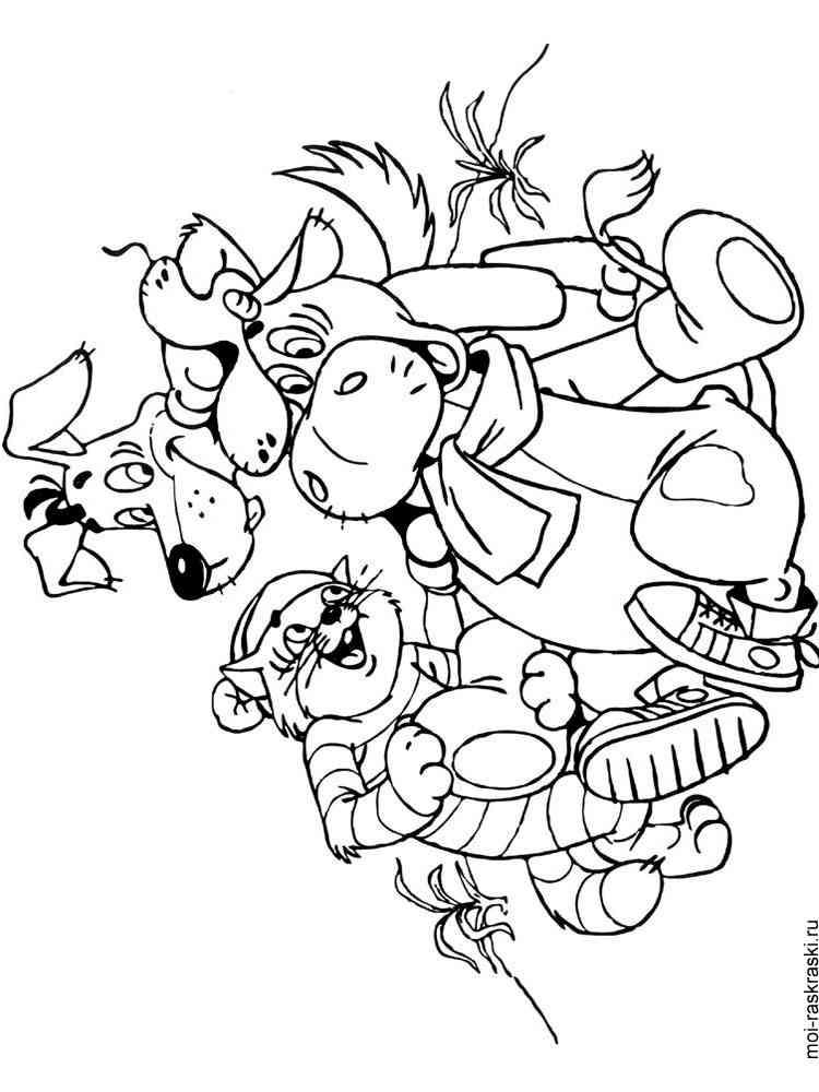 Раскраски из мультфильма Простоквашино. Скачать и ...