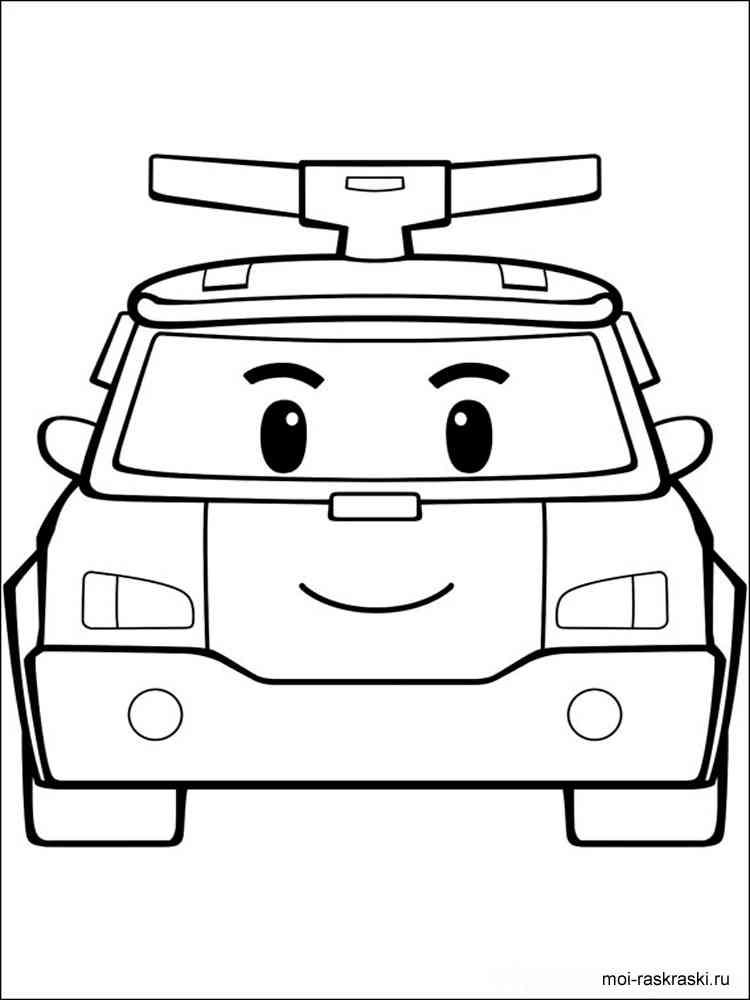 раскраски из мультфильма поли робокар скачать и распечатать