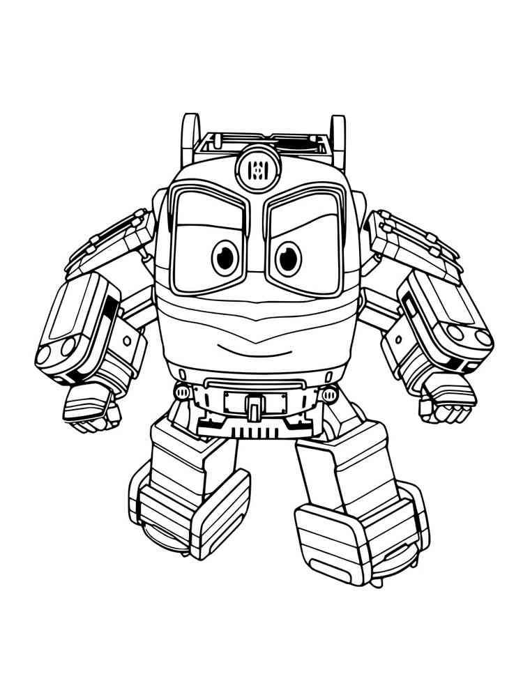 Раскраски Роботы поезда. Скачать и распечатать раскраски ...