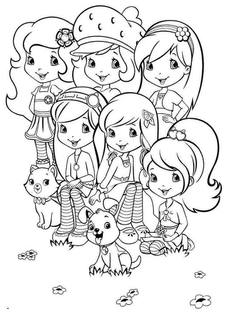 Раскраска земляничка и её друзья