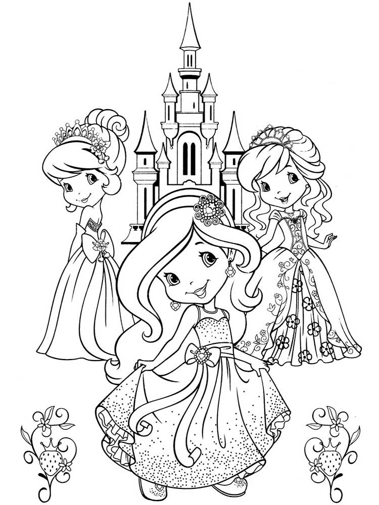 Раскраска Шарлотта Земляничка - распечатать в формате А4