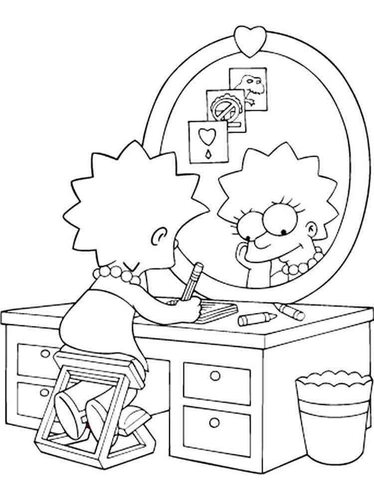 Симпсоны раскраска гомер