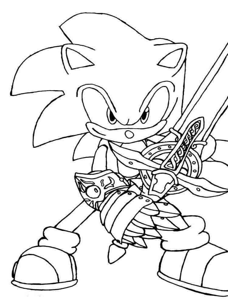 Раскраски Соник ИКС (Sonic X) - распечатать в формате А4
