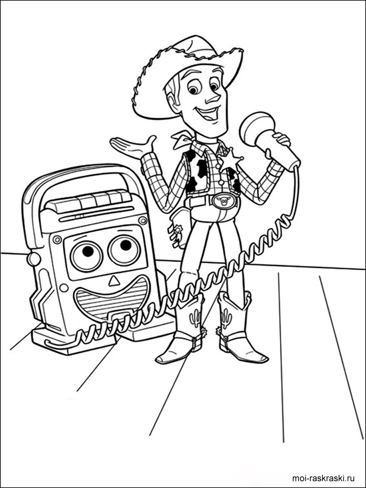 раскраски из мультфильма история игрушек скачать и
