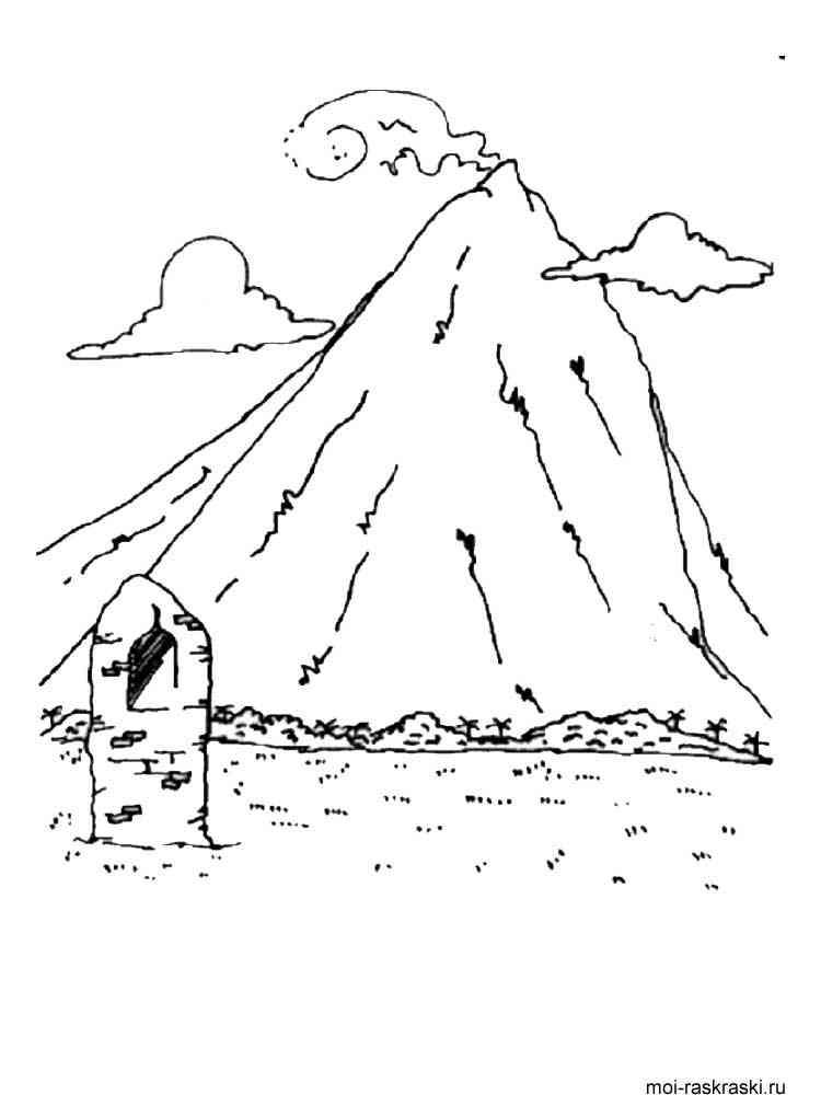 Картинки горы раскраска