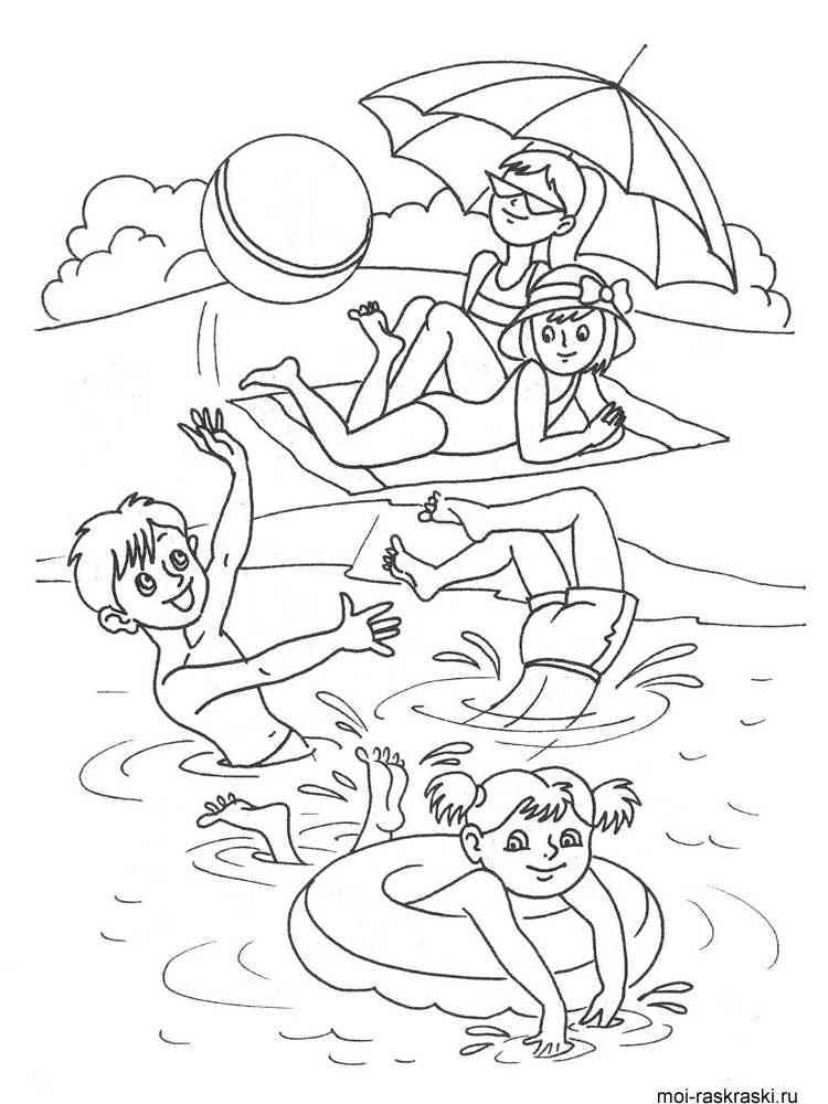 Раскраски Море. Скачать и распечатать раскраски Море
