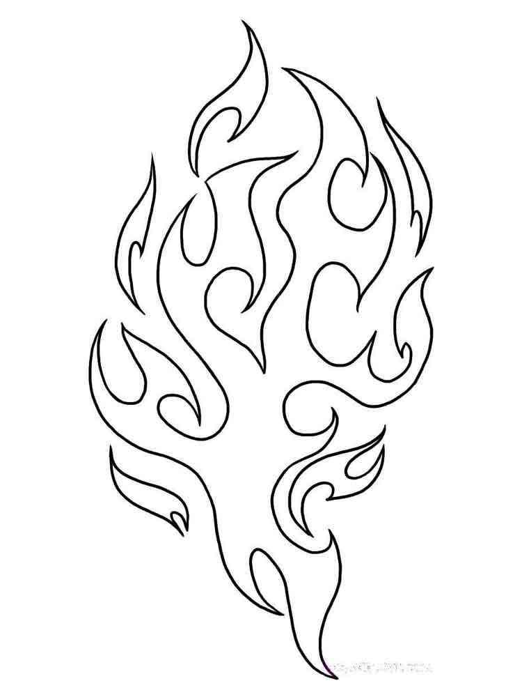 Раскраски Огонь - распечатать в формате А4