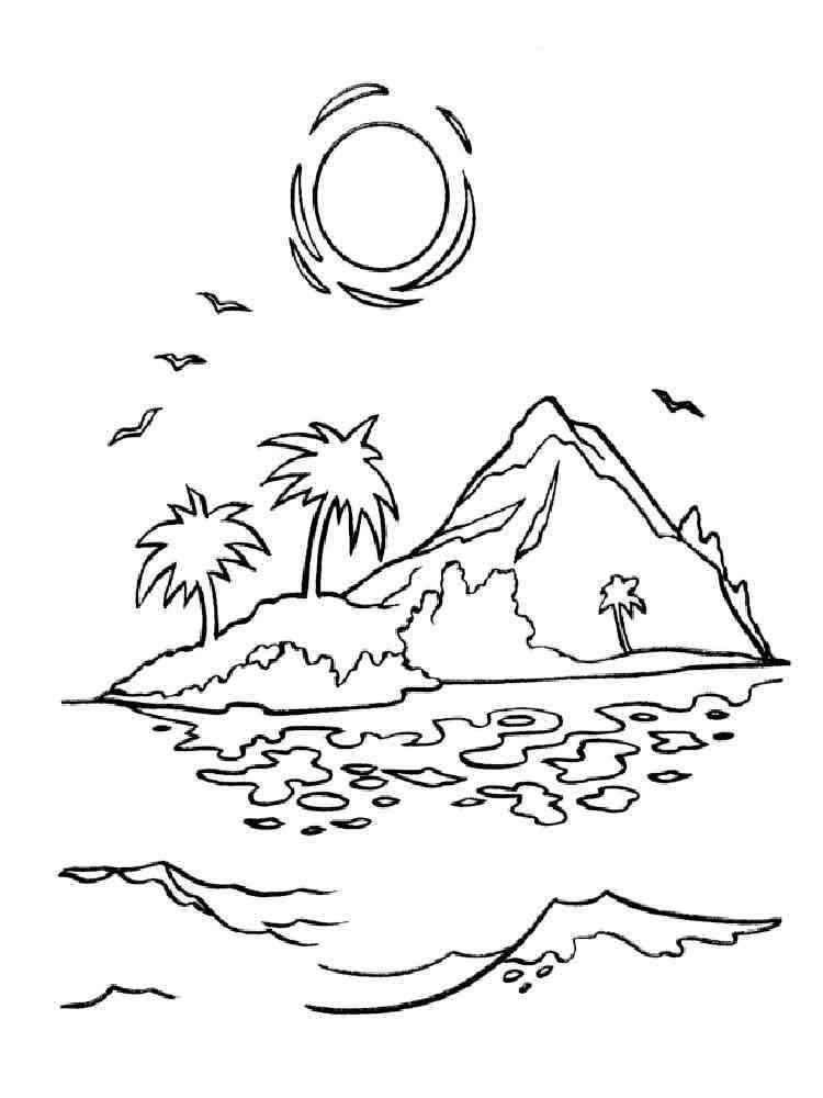 картинка остров контур игр
