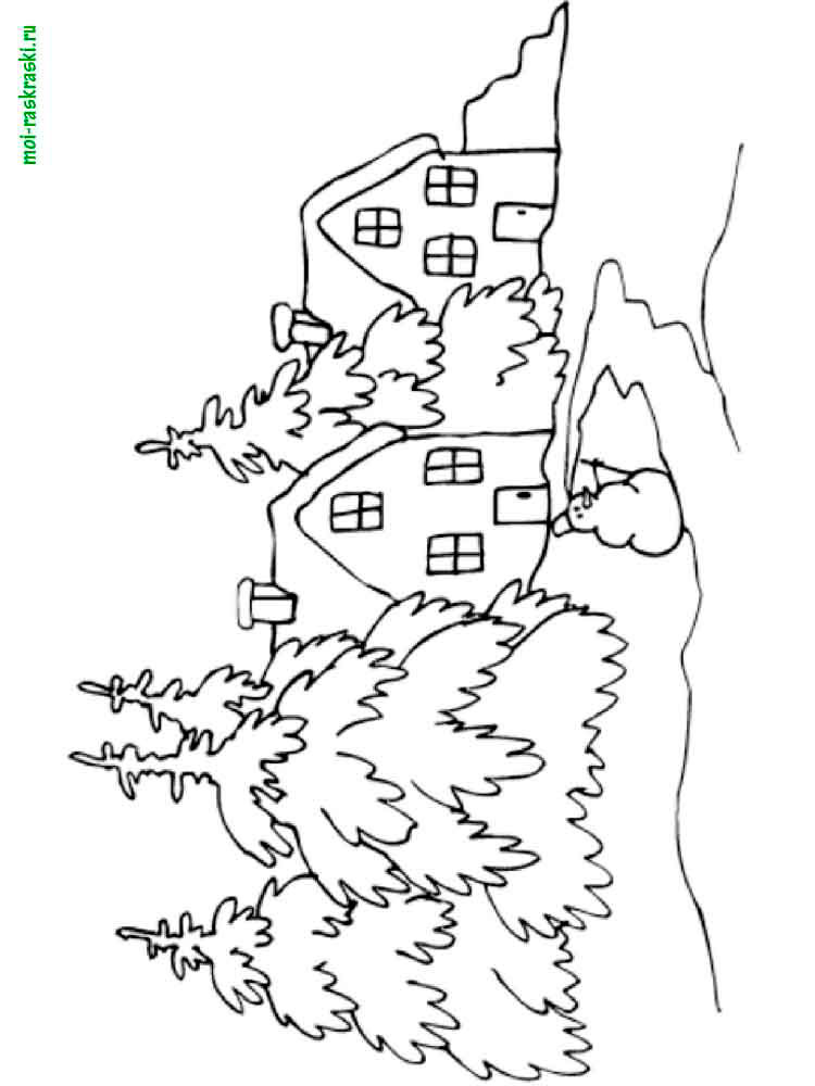 Картинки раскраски детские на тему природа
